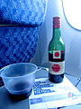 American Airlines.Economy class Cabin.Red wine.CDG-JFK.2010.JPG