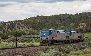 Amtrak California Zephyr on the Colorado River (28154290124).jpg