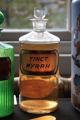 Myrrh - An old bottle of Tincture of Myrrh