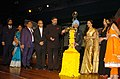 Anand Sharma lighting the lamp at the inauguration of the 39th International Film Festival (IFFI-2008) at Kala Academy, in Panaji, Goa. The Governor of Goa, Dr. S.S. Sidhu, the Chief Minister of Goa, Shri Digambar Kamat.jpg