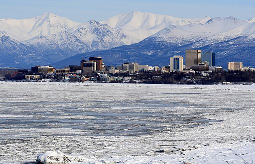 Anchorage and Chugach Mountains