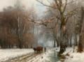 Anders Andersen-Lundbye - Bonde med hestespand i vinterlandskab - 1882.png