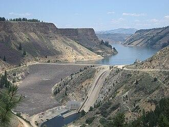 Anderson Ranch Dam - Anderson Ranch Dam in August 2009