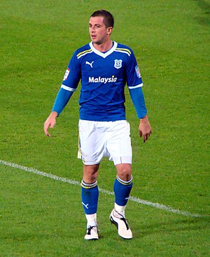 Andrew Taylor (footballer, born 1986) - Andrew Taylor playing for Cardiff in 2011.