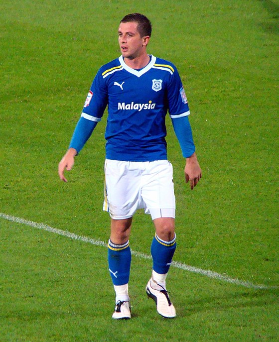 Andrew Taylor playing for Cardiff City in 2011. Andrew Taylor - Cardiff City.jpg