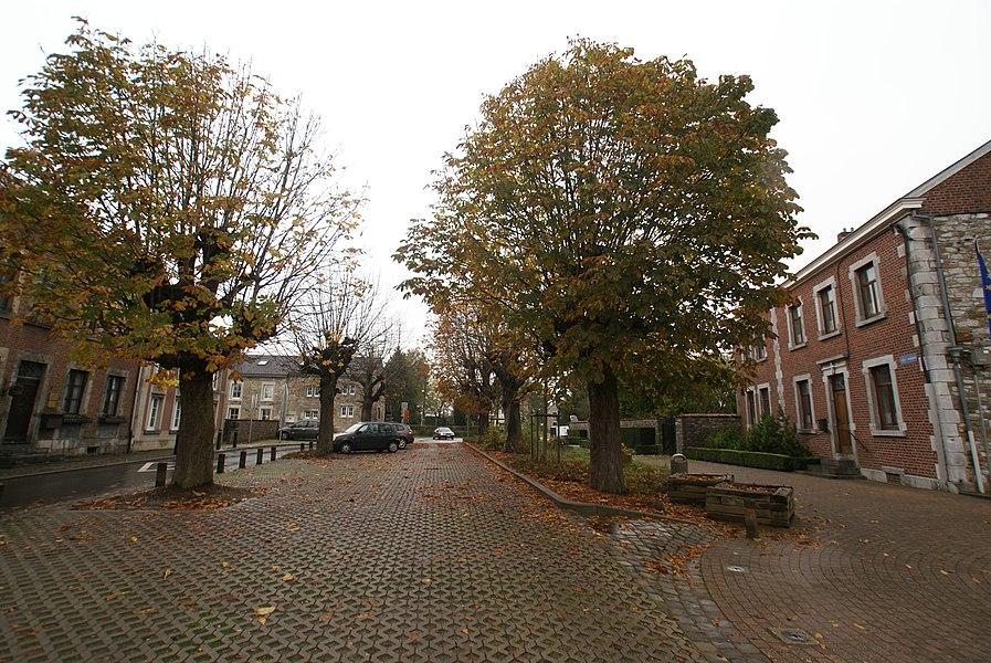 "Andrimont (Belgium): Central square ""place Communale"""