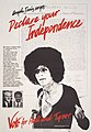 Angela Davis urges - declare your independence - vote for Hall and Tyner LCCN2016648082.jpg