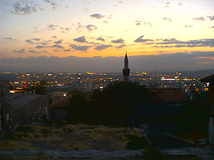 Altındağ, Ankara - A panorama of Ankara from the castle.