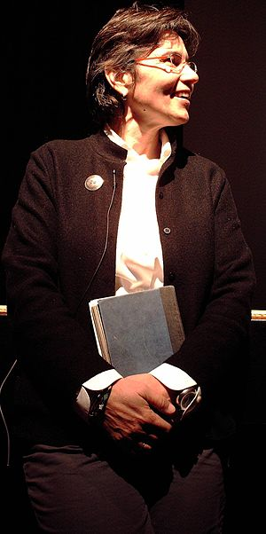 Ann Bancroft - Ann Bancroft in 2006, holding a journal she kept on a trip to the Arctic