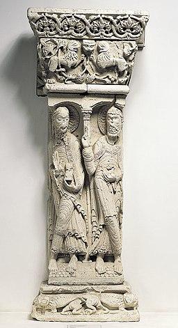 Anonyme - Pilier , Saint Pierre et saint Paul - Musée des Augustins - ME 15