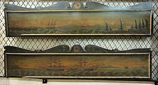 Pair of Valances with SeaScape