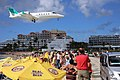 Another Plane over Maho Beach (16285348416).jpg