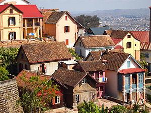 Antananarivo houses architecture