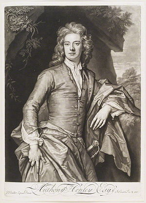 Anthony Henley (1667–1711) - Anthony Henley, 1694 engraving by John Smith after Godfrey Kneller