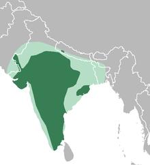 Антилопа cervicapra map.png