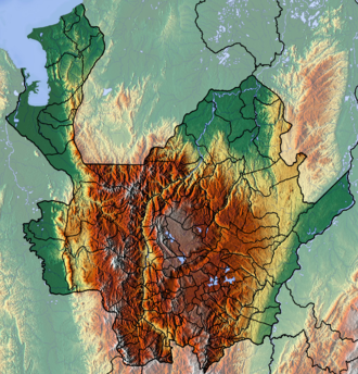 Antioquia Department - Image: Antioquia Topographic 2