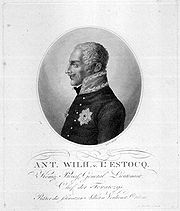 Print of Anton von L'Estocq in profile