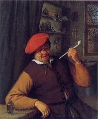An Apothecary Smoking a Pipe