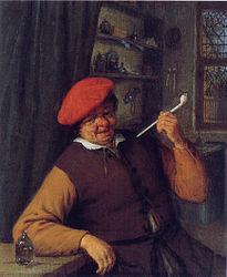Adriaen van Ostade: An Apothecary Smoking a Pipe
