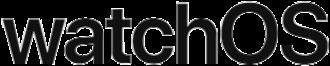WatchOS - Image: Apple watch OS wordmark 2017