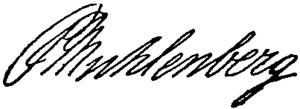 Peter Muhlenberg - Image: Appletons' Muhlenberg John Peter Gabriel signature