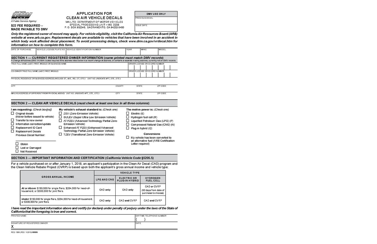 File:Application for Clean Air Vehicle Decals (REG 1000).pdf ...