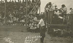 Archer City, Texas - Archer City Round Up, July 4, 1921