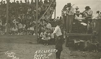 Archer City, Texas - Archer City Round Up, July 4, 1921