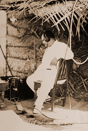 Ardeshir Irani - Ardeshir Irani on the sets of Alam Ara. Circa 1931