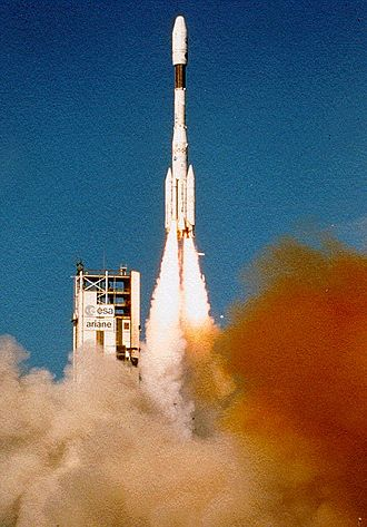 Ariane (rocket family) - The first ever Ariane 4 launch from Kourou on June 14, 1988