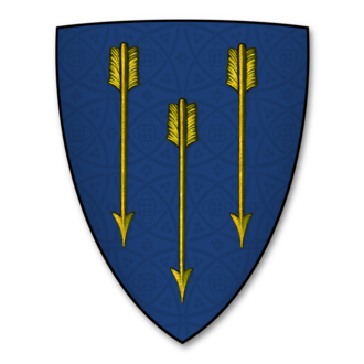 Simon Archer (antiquary) - The armorial bearings of the Archer family of Umberslade Hall: Azure, three arrows, points downward, or