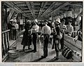 Army physicians vaccinating soldiers below decks on the SS. Wellcome V0016517.jpg