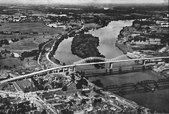 """Arrigoni Bridge - From a commemorative booklet entitled """"The Middletown-Portland Bridge"""" August 6, 1938. Click the image for the accompanying text."""