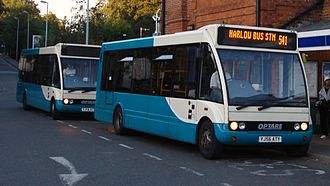 Arriva Shires & Essex - Two Optare Solos at Epping Underground station in September 2008