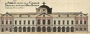 Palau del Parlament de Catalunya - Elevation of the Arsenal of the Ciutadella, 1725