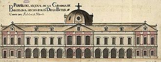 Palau del Parlament de Catalunya - Elevation of the Arsenal of the Ciutadella, 1725