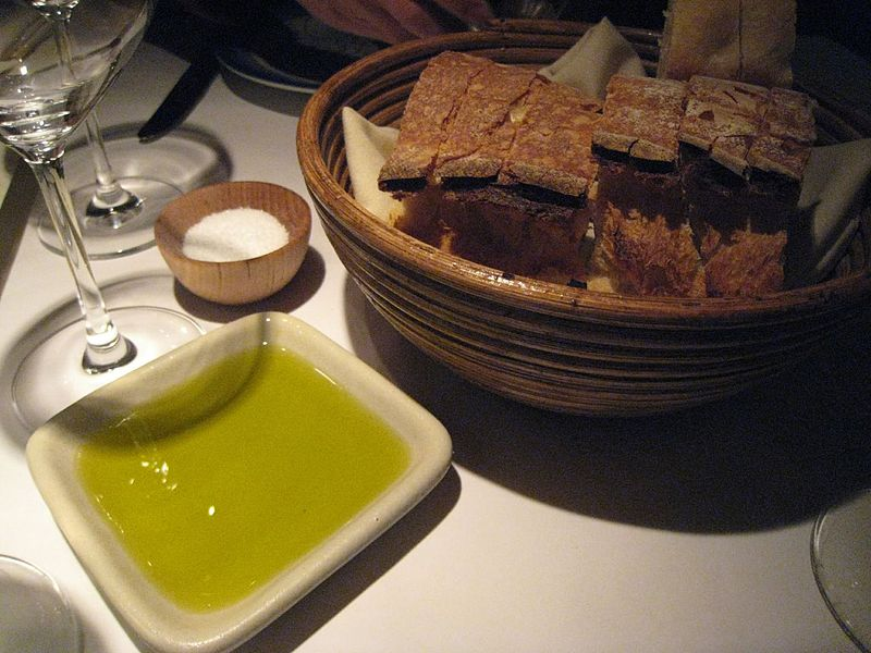 File:Artisan bread with olive oil and salt.jpg