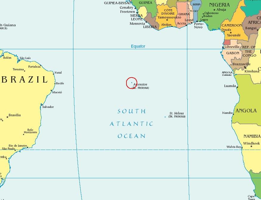 Položaj otoka u Atlantiku