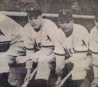 Utica Blue Sox - Richie Ashburn and Nick Picciuto Utica Blue Sox 1945
