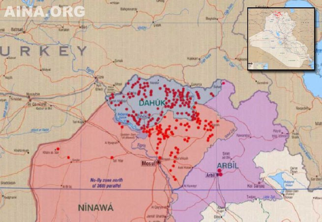Assyrian autonomy map 2003