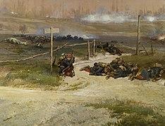 Au pied du poteau, fragment du panorama de La Bataille de Champigny.jpg