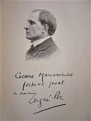 Lugné-Poe - Lugné-Poe in Figures contemporaines tirées de l'Album Mariani. Etching c. 1903.