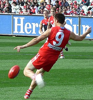 Kick (football) - Precise field and goal kicking using the oval shaped ball is the most important skill in Australian rules.