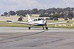 Australian Airline Pilot Academy (VH-XDG) Piper PA-28-161 Cherokee Warrior II taxiing at Wagga Wagga Airport.jpg