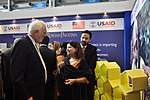 Australian High Commissioner, Mr. Peter Heyward while interacting with the team of USAID's Entrepreneurs Project at Dawn Sarsabz Pakistan Agri Expo. (13125406435).jpg