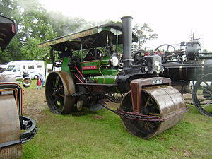 "Steamroller - Aveling & Porter manufactured the first successful steamrollers. Pictured, is the model ""Britannia""."
