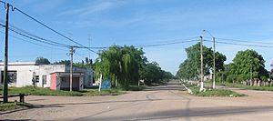 Montes, Uruguay - Main avenue in Montes