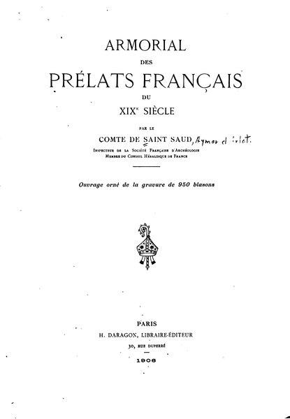 File:Aymar de Saint-Saud - Armorial des prélats français du XIXe siècle (1906).djvu