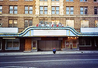 Aztec Theatre (San Antonio) - Closed Aztec Theatre in December 2003, before renovations.
