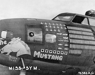 "43d Air Mobility Operations Group - B-17F-25-BO Flying Fortress (41-24554), ""The Mustang"", 63d Bombardment Squadron, 1943"